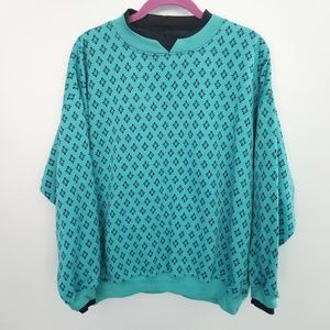 {Vintage} Blue Teal Long Sleeve Sweater Size Large